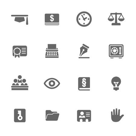 tribunal: law icons Illustration