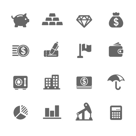 Finance Icons Stock Vector - 18262754