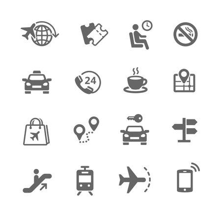 Set of travel icons