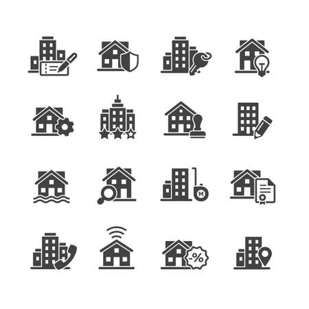 real estate vector icon set