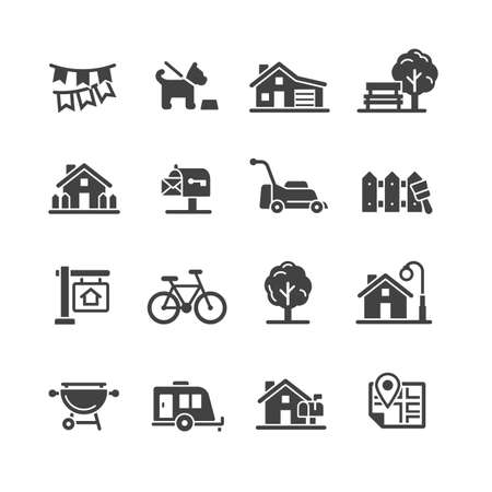 Real Estate and Homes icons
