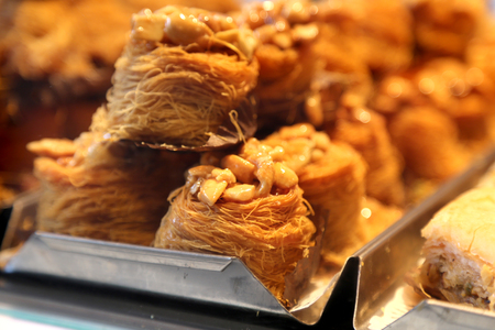 turkish dessert: Traditional Turkish Dessert sweet pastry