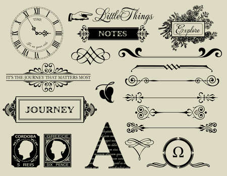 web page elements: Design elements - Header collection Illustration