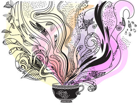 Afternoon tea  What s in your teacup  Illustration