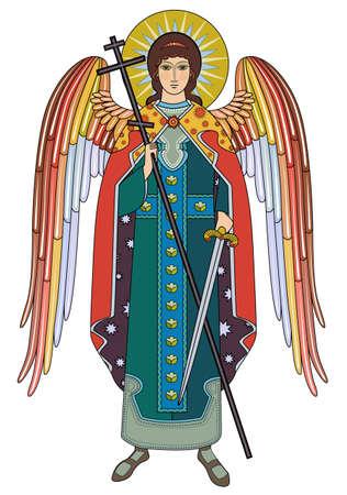 comandante: Vector icona dell'Arcangelo Michele Vettoriali