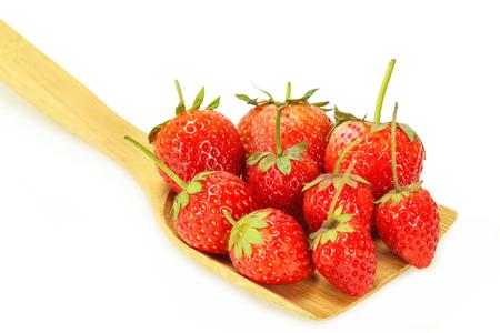 produce energy: Fresh strawberry isolated on white background