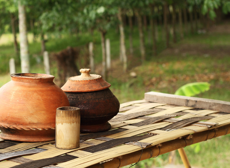 Water jar ancient style in Thailand.