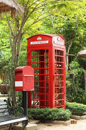 Telephone and letterbox in the garden