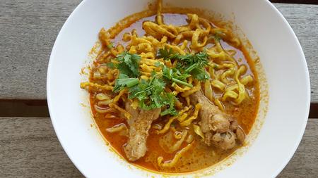 soi: Khao soi  Traditional Thai Food Stock Photo