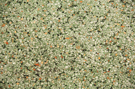 Old Green Terrazzo For Texture Stock Photo