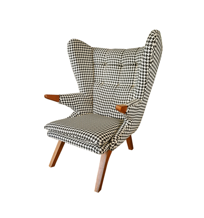 Modern armchair isolated on white background.