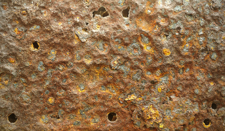 Rust metal plate for texture and background
