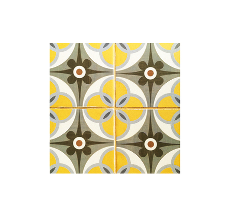 Background and texture with Ancient tile pattern