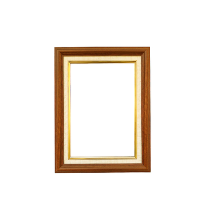 Wooden photo frame isolated on white background Stock Photo - 85128615