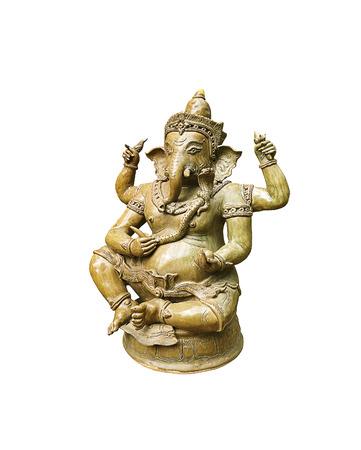 Ganesha Statue isolated on white background