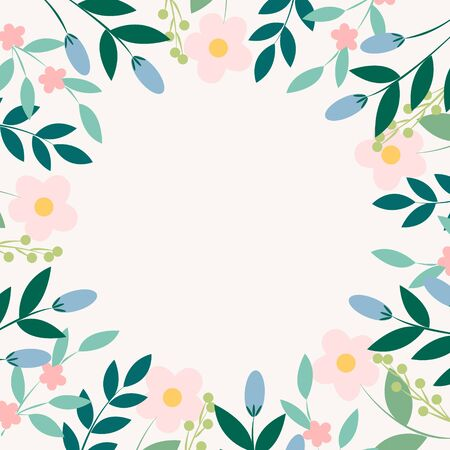 Vector background with tropical leaves. Tropical background. Tropical frame Stock Illustratie