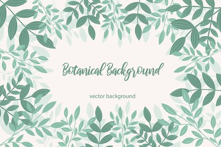 vector background with leaves and flowers
