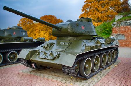 Brest, Wit-Rusland - 25 oktober 2015: Een monument gewijd aan een World War 2, gelegen in Brest Fortress. Brest is een 75-jarig bestaan van de Duitse aanval op juni 22, 2016 te markeren. Redactioneel