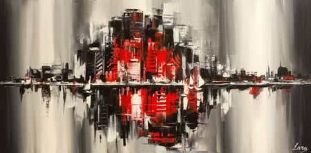 Abstract city representing noises, overpopulation and urbanism.