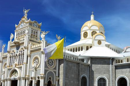 De Basilica de Nuestra Senora de los Angeles in de stad Cartago, gebouwd in 1639, Costa Rica Stockfoto