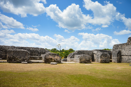 ignacio: Caracol archaeological site of Mayan civilization in Western Belize Stock Photo