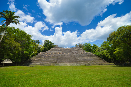 ignacio: Caana Pyramid at Caracol archaeological site of Mayan civilization in Western Belize