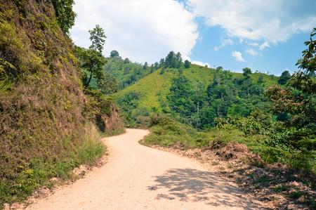 azul: Landscapes around the highlands of Taulabe and Cerro Azul national park near Lake de Yojoa, Western Honduras Stock Photo
