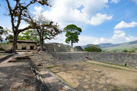 civilization: Structures of East court at Copan archaeological site of Maya civilization in Honduras Stock Photo