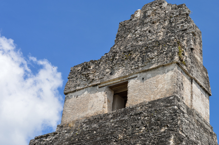archaeological site: The top of the Temple I of the Maya archaeological site of Tikal in Guatemala