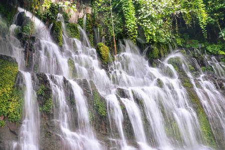 flores: Chorros de la Calera waterfalls in a small town of Juayua, Ruta de las Flores itinerary,  El salvador