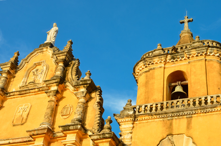 faade: Iglesia la Recolección is one of the main cultural attractions of Leon, Nicaragua. Its construction began in 1786 Stock Photo
