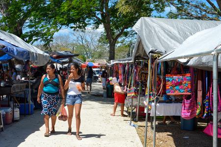 ignacio: Vibrant and busy traditional Saturday market in San Ignacio, Belize Editorial