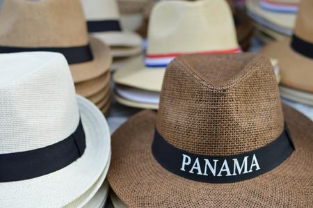 viejo: Panama hats in Casco Viejo district of Panama City, Panama, Central America. Shallow DOF