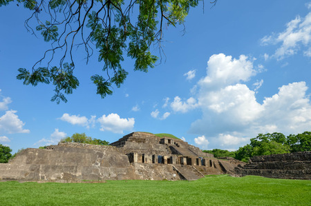 Tazumal archaeological site of Maya civilization in El Salvador. It is an architectural complex within the larger area of the ancient Mesoamerican city of Chalchuapa. Central America
