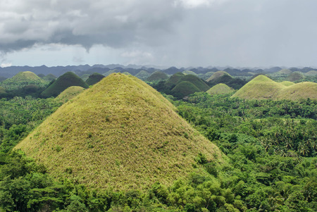Landscapes of Chocolate hills in Bohol Island, Philippines. Southeast Asia