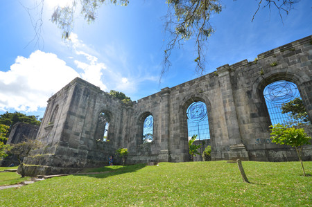 Santiago Apostol Parish Ruins in in the city of Cartago, Costa Rica. The site was never completed and what had been built was destroyed by numerous earthquakes Imagens