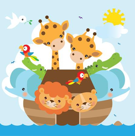 ark: Animals illustration Illustration