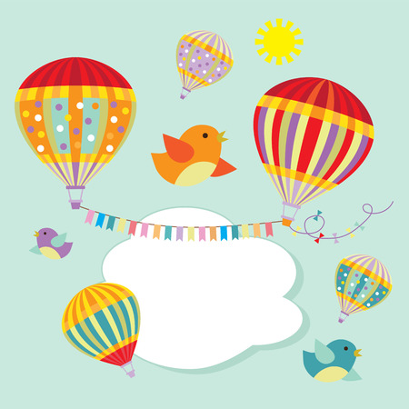 aerostat: Hot air balloons illustration