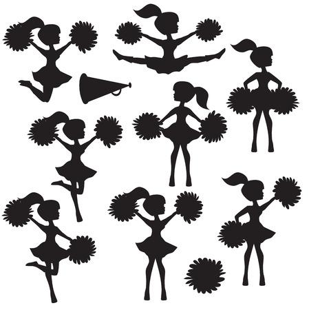 Cheerleader silhouette Stock fotó - 42433698
