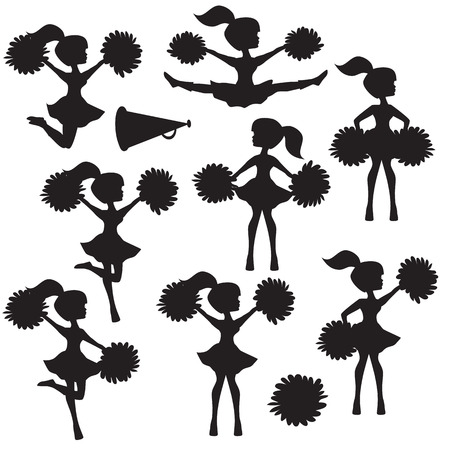 3 153 cheerleader stock vector illustration and royalty free rh 123rf com cheer clipart free cheer clip art black and white