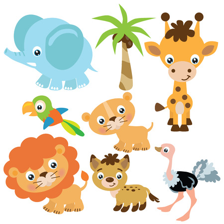 jungle animals: Jungle animals vector illustration Illustration