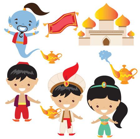 Aladdin ilustración Vectores