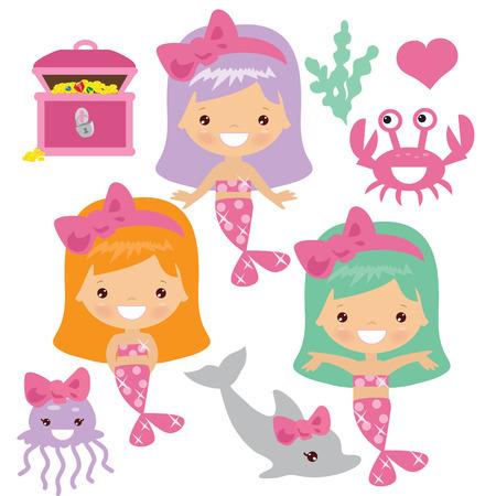 fairy tale mermaid: Mermaid vector illustration