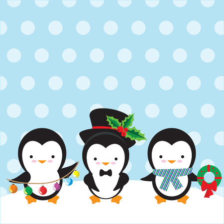 aves caricatura: Pingüino ilustración vectorial