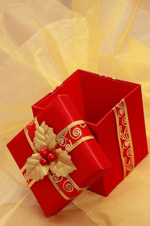 christmas gift: red christmas gift box