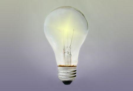 bulblight with an artificial lightening