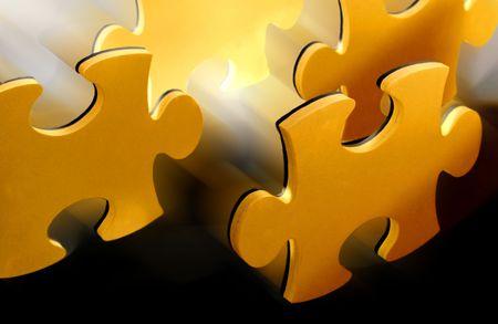 puzzle pieces Stockfoto