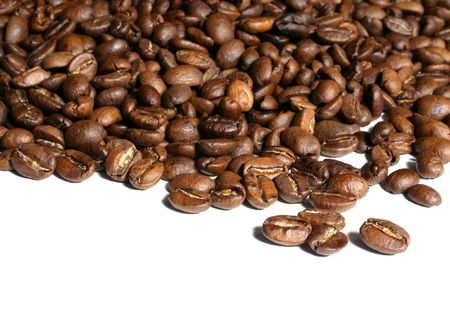 whole fresh coffee grain