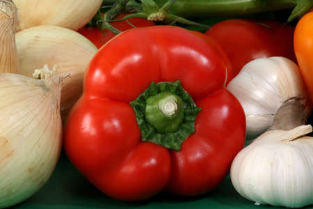savour: closeup on some fresh vegetables