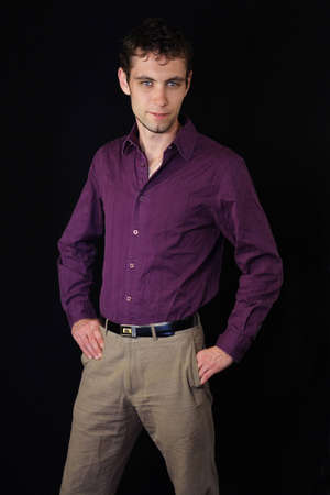nice looking: causual shot of a young nice looking businessman